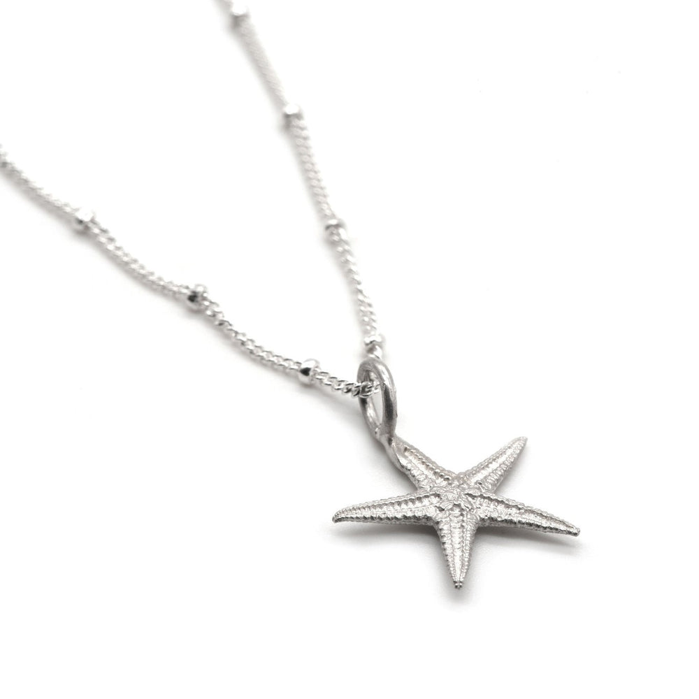 silver ocean starfish necklace