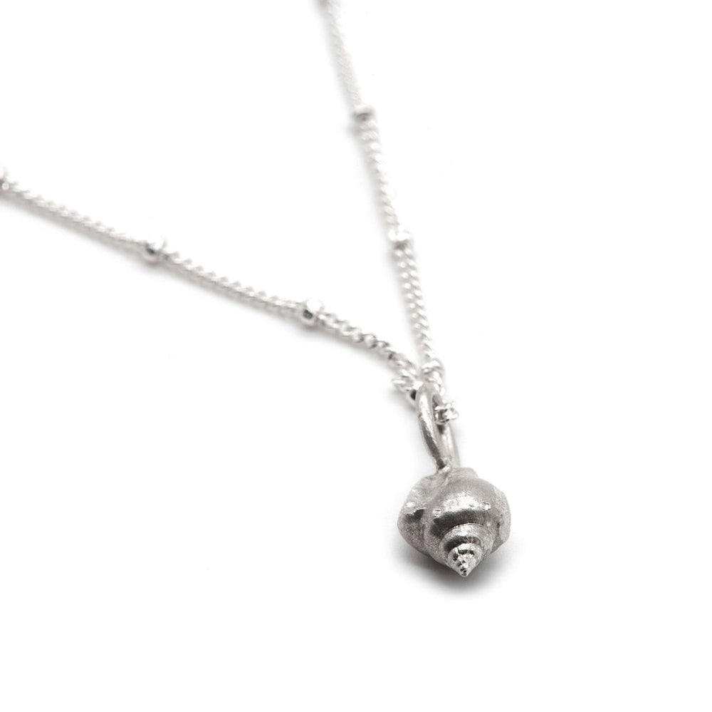 Silver Tiny Shell Necklace