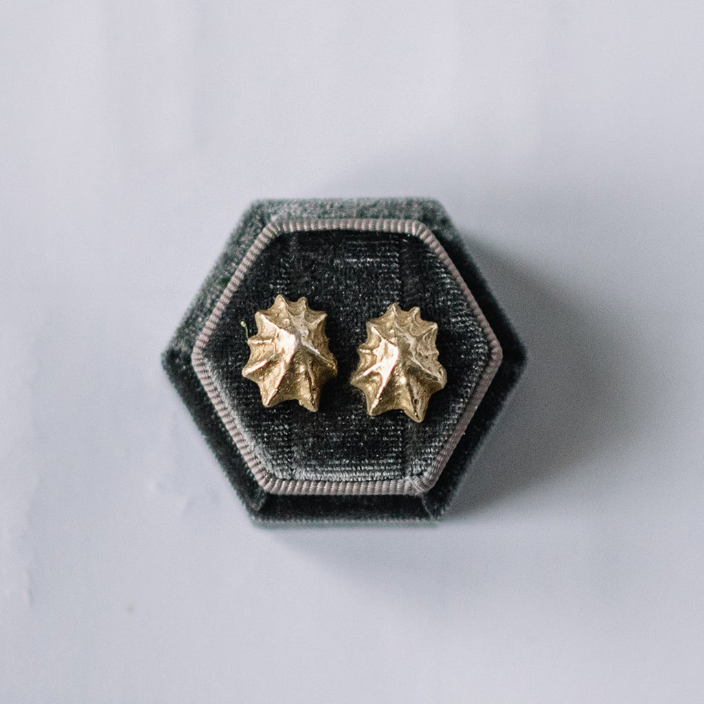 Cornish Limpet Studs in 18ct Gold