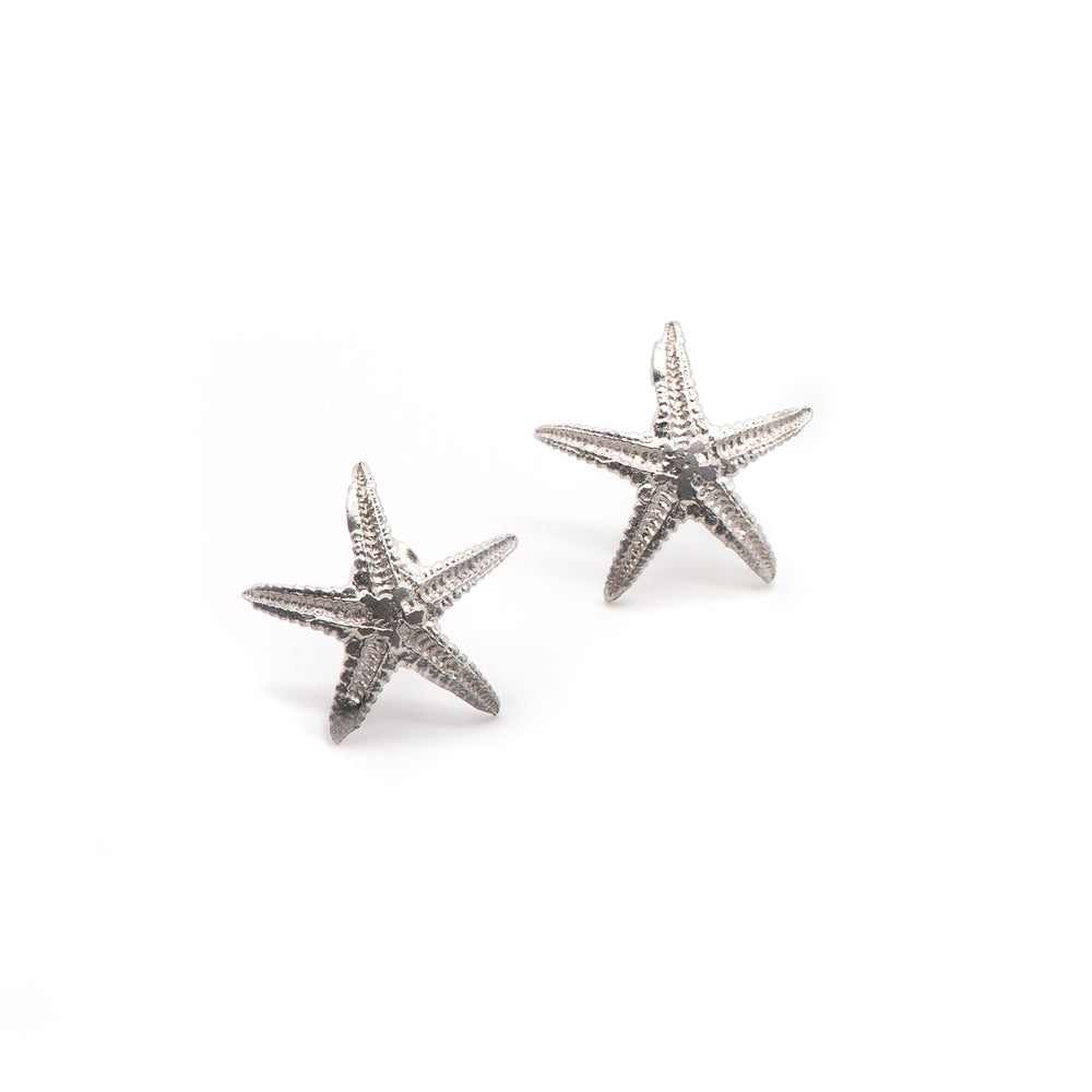Starfish Earrings, Ocean Studs, Seashell Jewellery