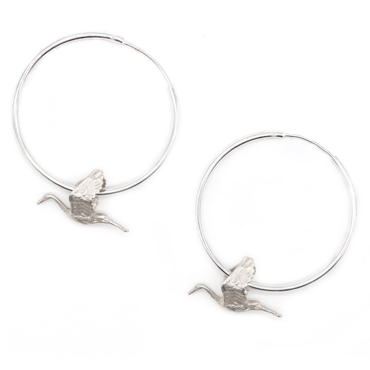Stork Earrings. Baby Shower gifts. New Mum Presents