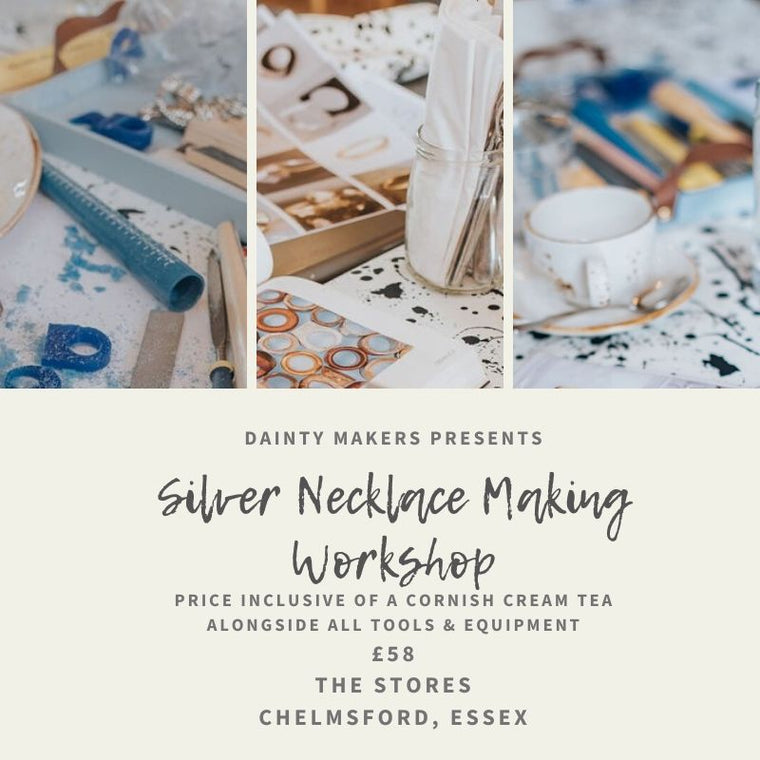 MOTHERS DAY SPECIAL: Silver Necklace Workshop- Saturday 21st March 2020