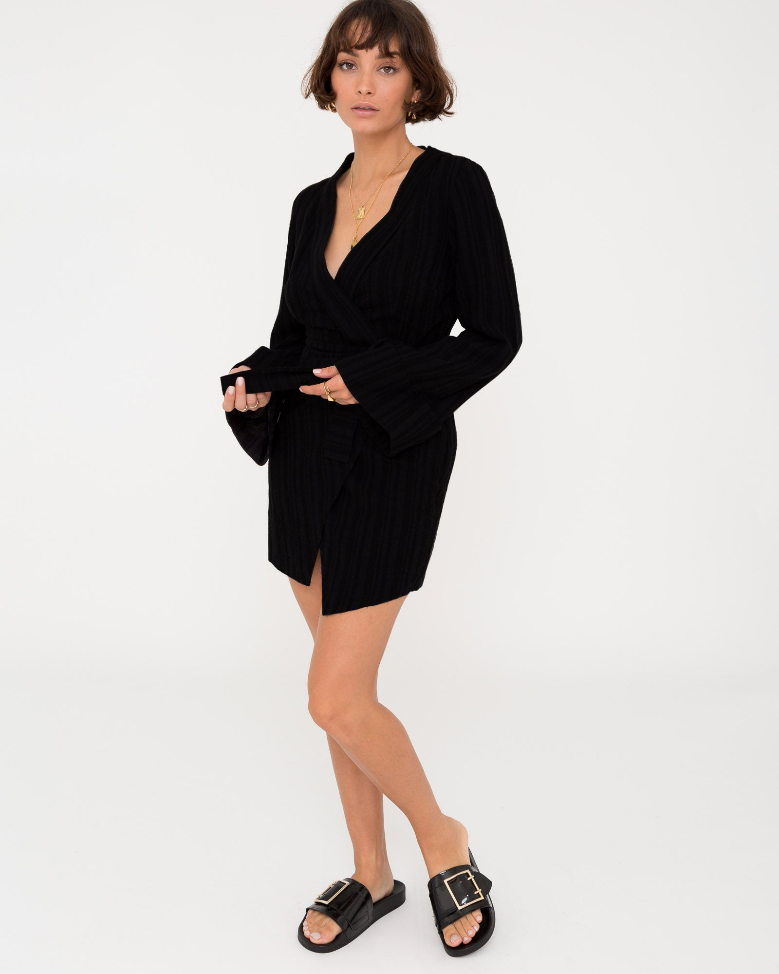 ADRIENE WRAP DRESS - I'M BACK