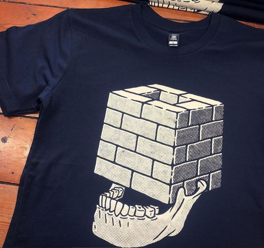 CASTLE FACE - Block Head T-SHIRT