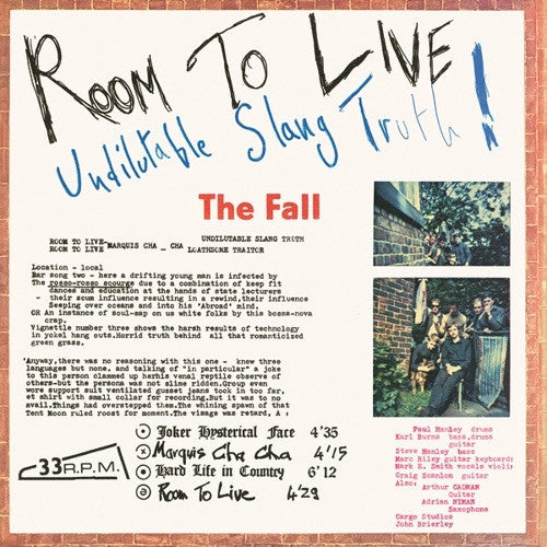 FALL, THE - Room To Live LP