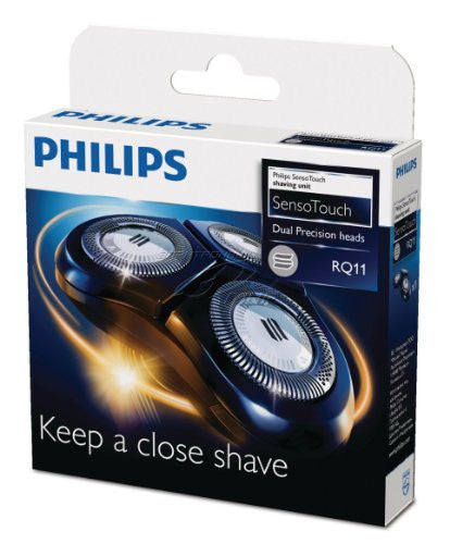 Philips RQ11 rq11/50 rq11/52 rq11/40 Philishave Norelco Sensotouch 2d Razor Blades Replacement Shaver Shaving Head Cutter Foil RQ1145 RQ1150 RQ1160 RQ1170 RQ1175 RQ1180 3 Heads in one shaver head unit