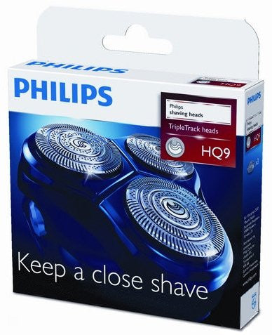 Philips HQ9/50 HQ9/40 HQ9/52 Philishave Norelco - 3 Replacement Shaving Heads for Smart TouchXL & Speed XL Shavers (does not include head frame)
