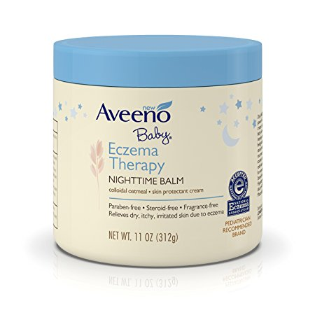 Aveeno Baby Eczema Therapy Nighttime Balm for Dry Skin and Baby Eczema Relief, 11 oz