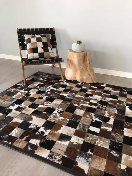 Brown Patchwork cushion cover