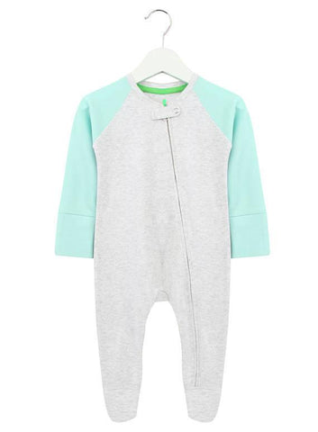 Baby Pink and Pink Zipped Babygrow