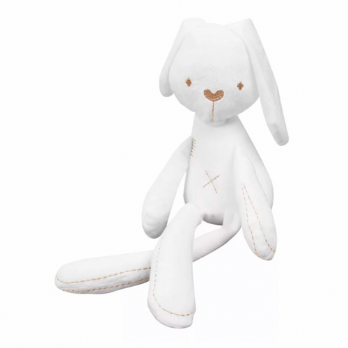 Hello World White Bunny Soft Toy