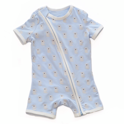 Blue Koala Short Sleeved Zip Up Babygrow