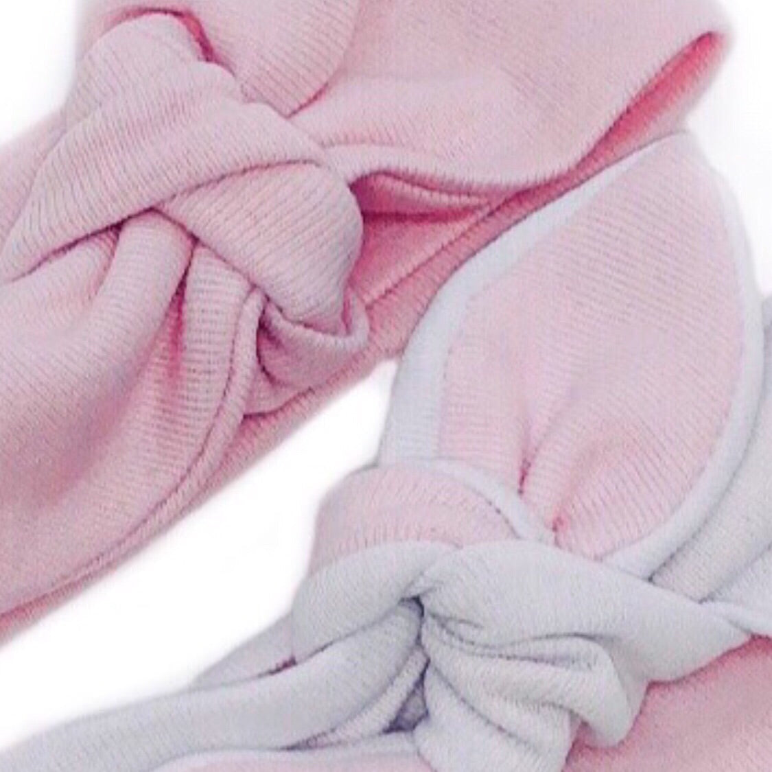 Baby & Toddler Knotted Hair Band/Bow - Baby Pink