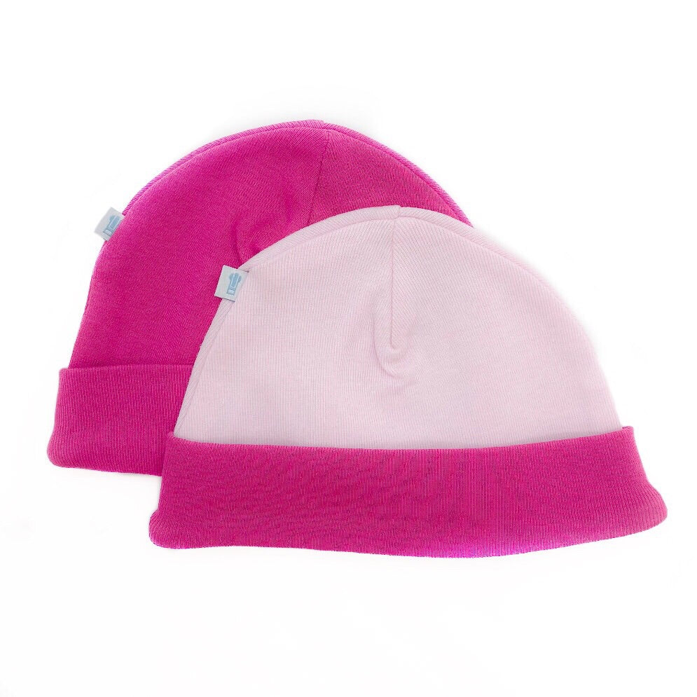 Pink Baby Hat 2 Pack