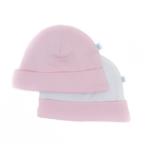 Baby Hat 2 Pack - Grey and Baby Pink