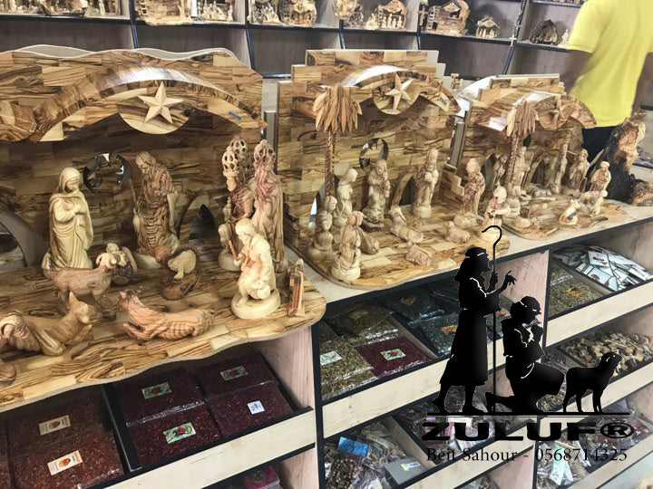 olive wood nativity sets made in bethlehem - Zuluf Store