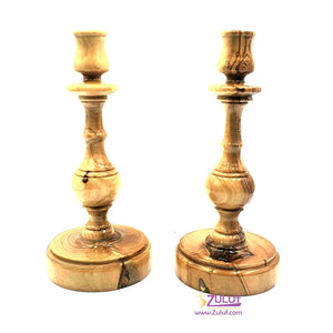 0live wood hand made two candles holders CAH009 - Zuluf