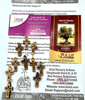 10 Olive Wood Crosses Bulk Prices Pen225 - Zuluf