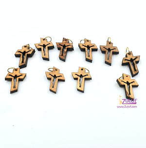 10 Olive Wood Crosses Catholic Wholesale Church Supplies Pen223 - Zuluf