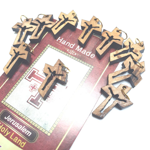 10 Olive Wood Crosses Pen223 Catholic Wholesale Church Supplies - Zuluf