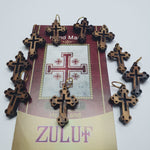 10 Small Olive Wood Crooses Pen218 Olive Wood Crucifix From Jerusalem - Zuluf
