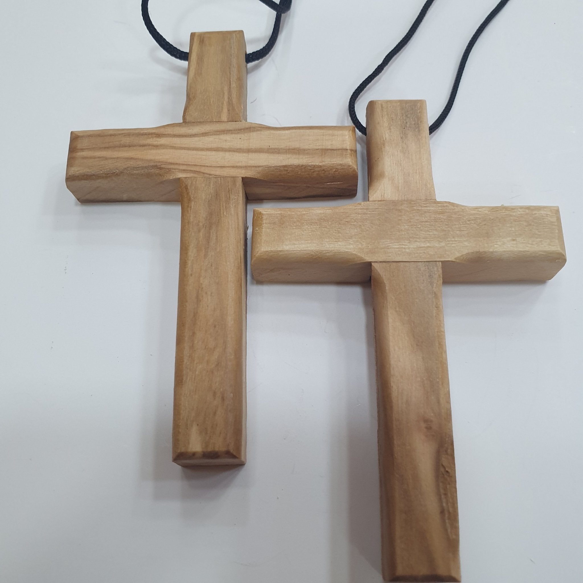 2 Hand Made Olive Wood Crosses by Zuluf PEN206 - Zuluf