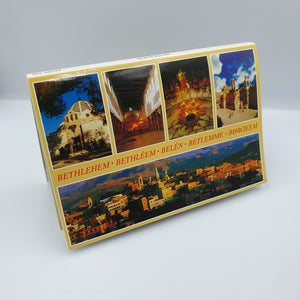 Holy Land Pictures & Sites in Bethlehem - 10 PostCards in 1 HLG212 - with Zuluf Certificate