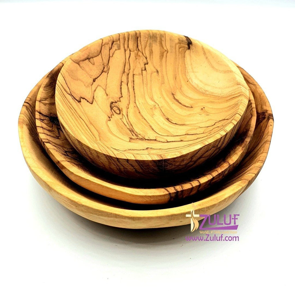 3 piece dish set made of olive wood holyland KIT021 - Zuluf