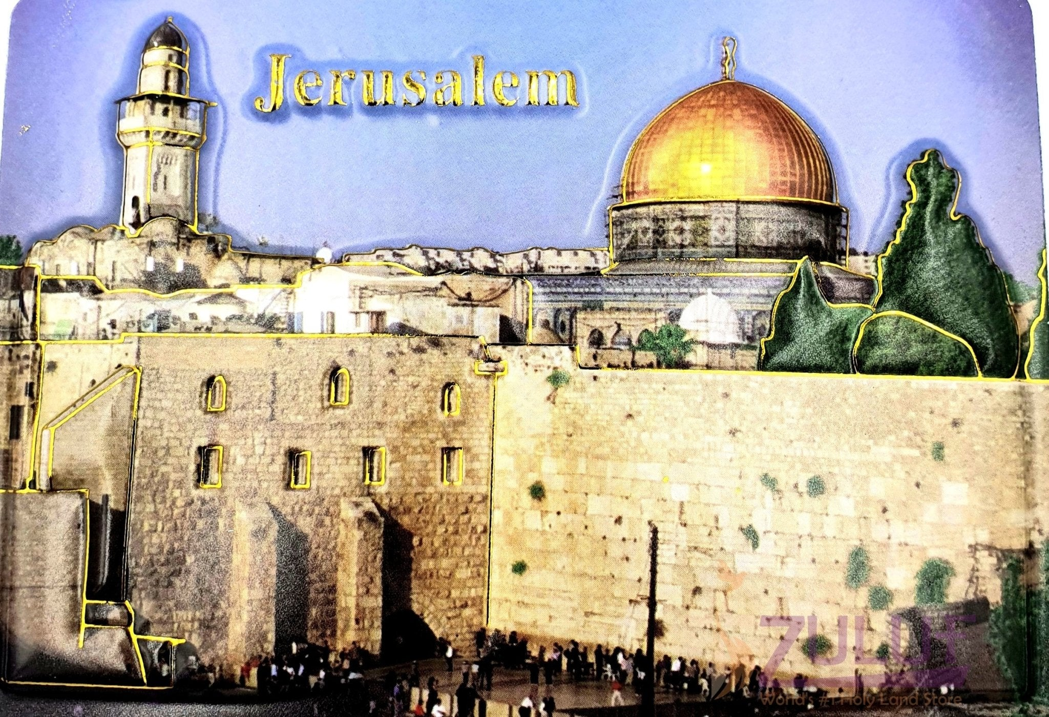 3d Photo Jerusalem Westren Wall Dome Of The Rock Magnet Mag114 - Zuluf