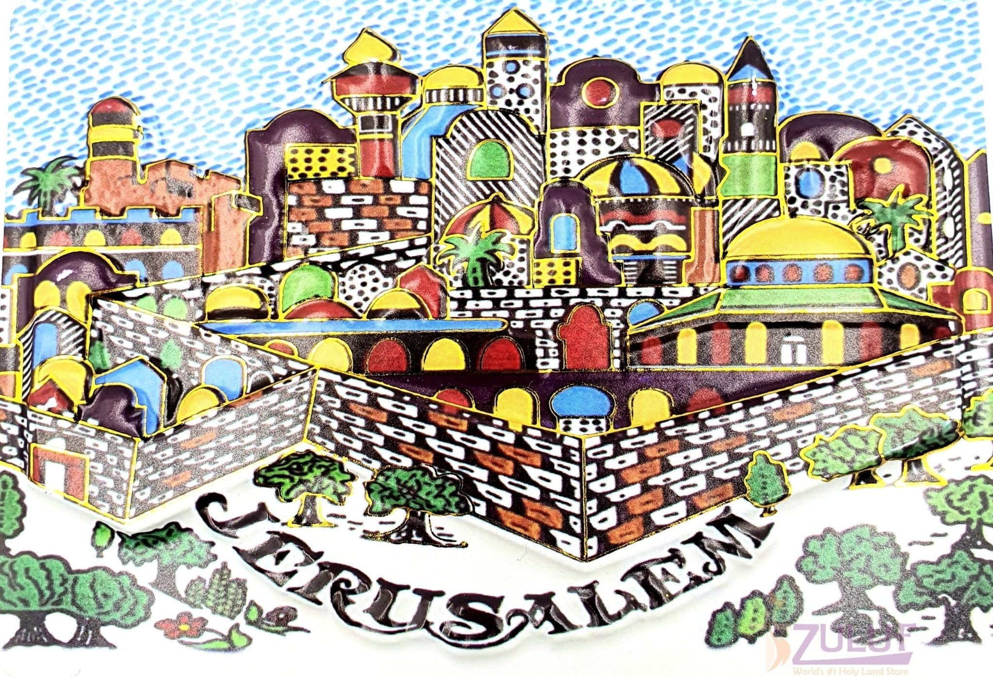 3d Photo Wall Of Old City Jeruslem Magnet Mag117 - Zuluf
