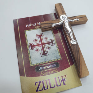 5 Olive Wood Crosses With Metal Crucific Pen210 - Zuluf