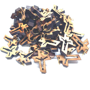 50 Olive Wood Crosses Pen222 Olive Wood Products - Zuluf
