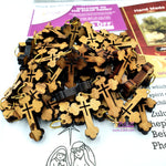 50 Olive Wood Crosses Pen224 Olive Wood Pendants Necklaces - Zuluf