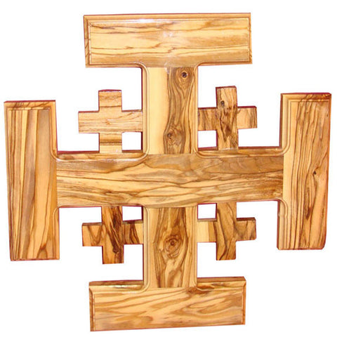 Zuluf Olive Wood Jerusalem Crusaders Cross Holy Land Spiritual Gift - CRS015
