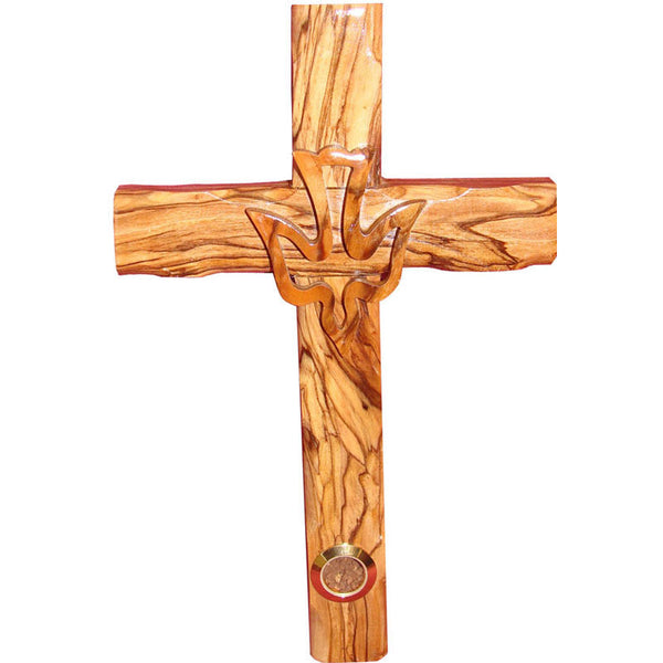 Zuluf Wall Hanging Wood Cross Olivewood Dove Cross Christian Gift Israel - CRS022