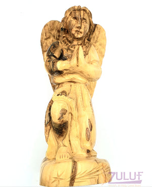 19cm Praying Angel Nazareth Olive Wood By Zuluf Angel For Sale Wholesale ANG029 - Zuluf