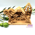 Olivewood Olive Wood Bethlehem Nativity 9cm Scene Set  Holy land  NAT067