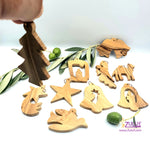 Zuluf olive wood hand made christmas tree GIFT ORN201