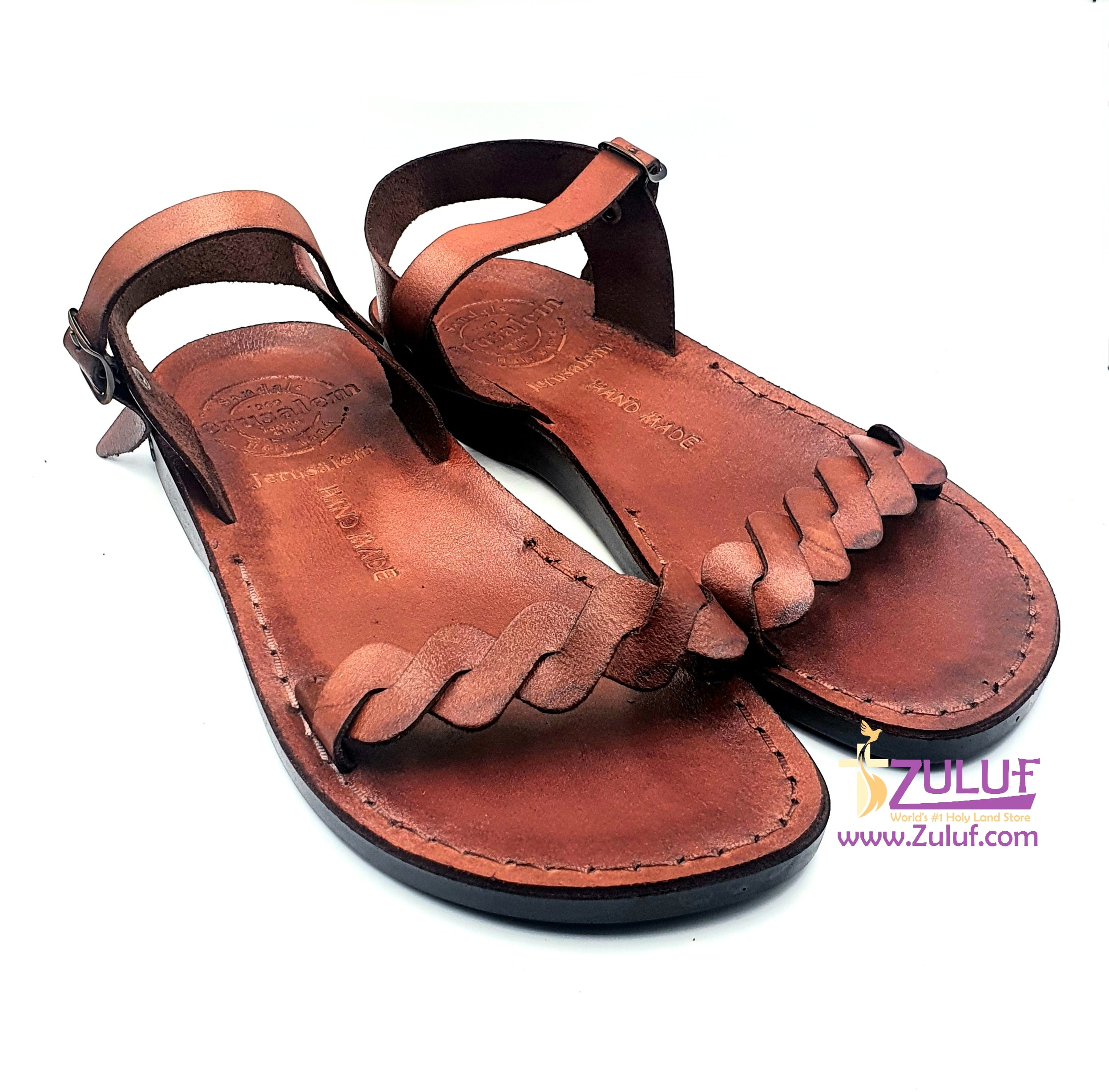 Jerusalem leather hand made woman sandal SAN004