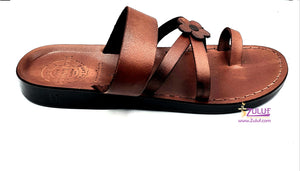 Jerusalem leather hand made soft woman unlocked sandal San016