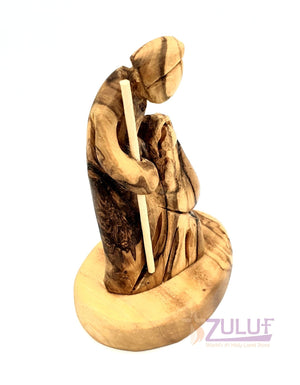 Abstract Design Olive wood hand made holy family small Statue HOF038 - Zuluf