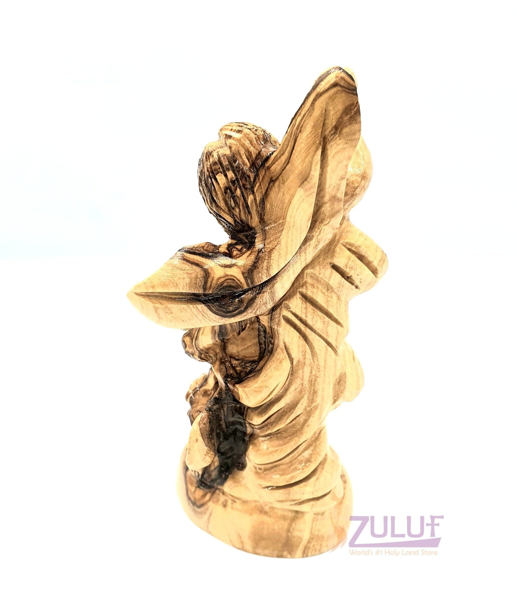 Archangel Michael Statue Olive Wood For Sale ANG030 - Zuluf