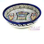 "Armenian Bowl Fish Plate - Ceramic Hand Made Bowl 15cm / 6"" CER007 - Zuluf"