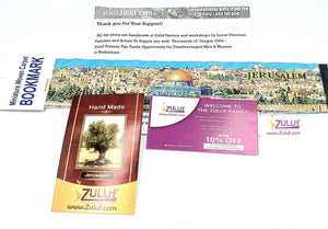 Authentic Woven Carpet Bookmarks Oriental Carpet Jerusalem Walls City with Zuluf Certificate - Zuluf