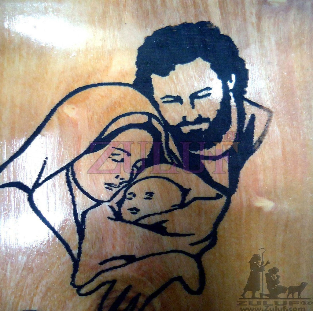 Bethlehem Holy Family Religious Icon Magnet Religious Art Olive Wood Holy Land - MAG019 - Zuluf