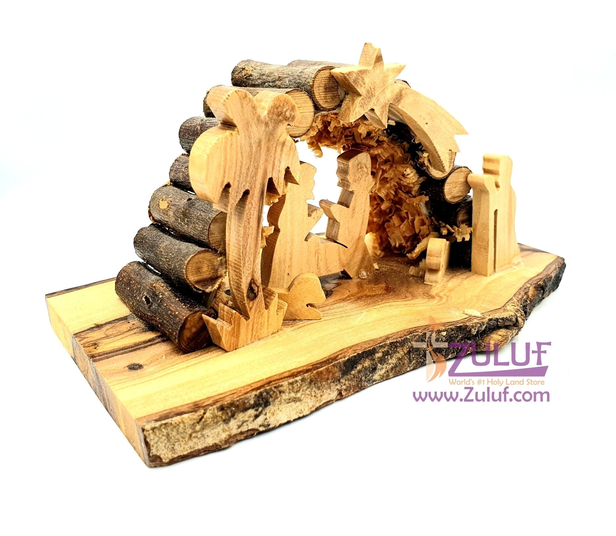 Bethlehem Nativity olive wood carvings from the holy land NAT070 - Zuluf