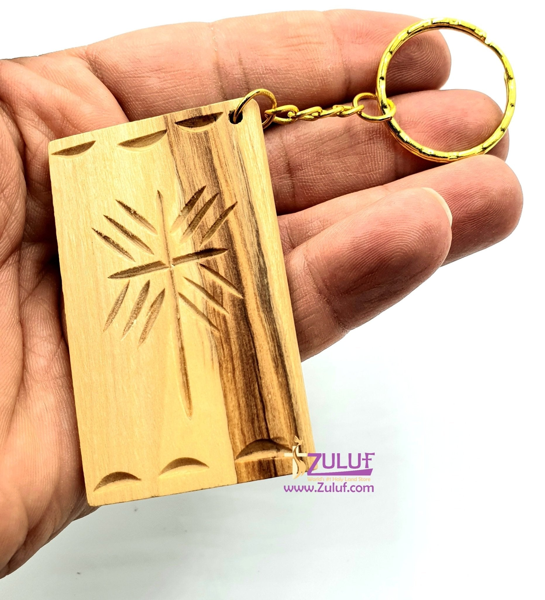 Bethlehem Olive wood hand made bible keychain KC213 - Zuluf