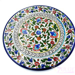 Big Hand Painted Armenian Round Ceramic Plate 27cm - CER001 - Zuluf