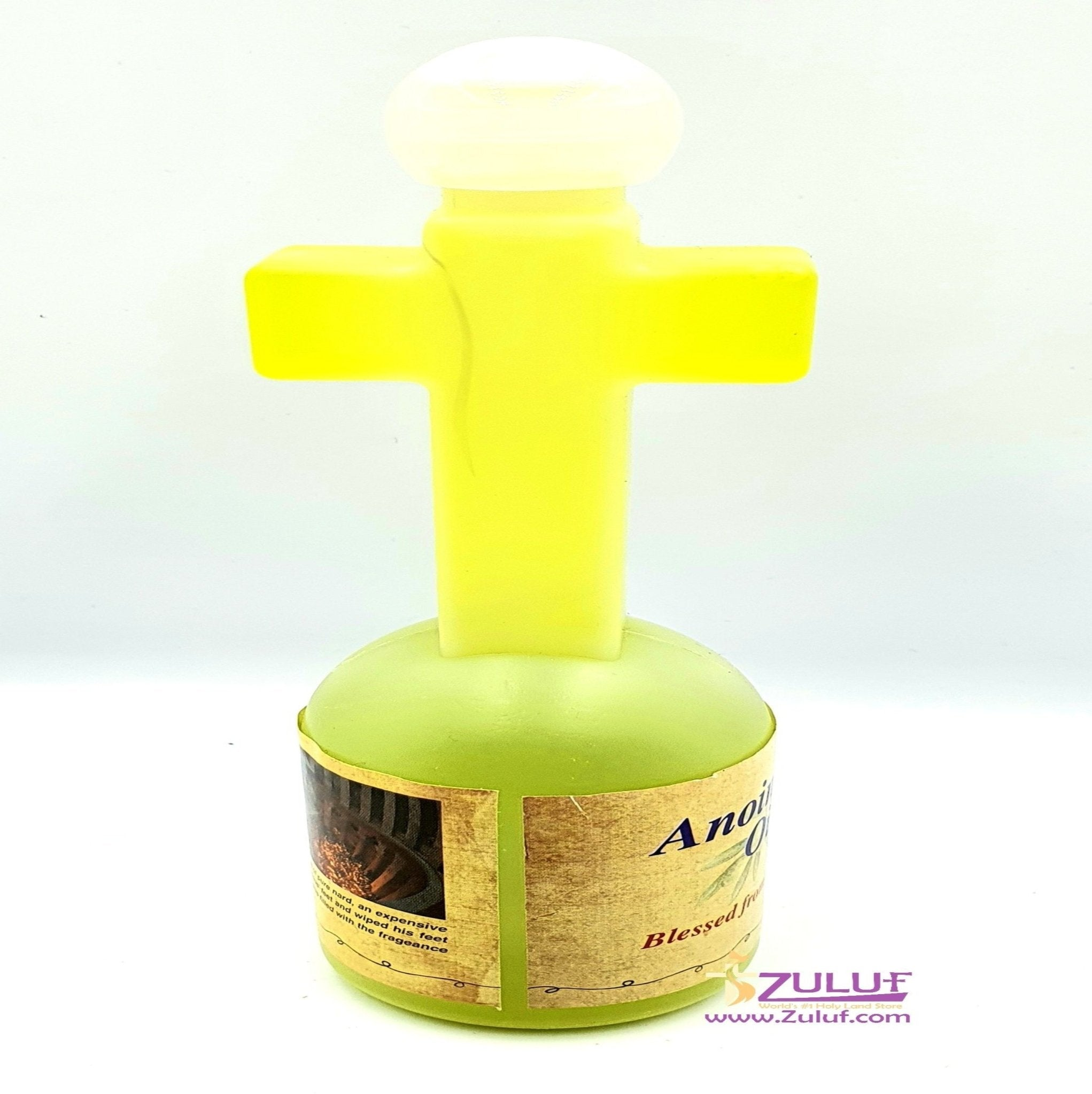 Blessed Olive Anointing Oil In A Cross Shaped Bottle By Zuluf® - (HLG093) - Zuluf