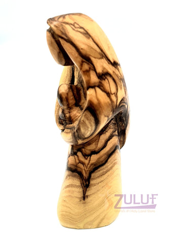 Catholic Statue of Mary - Blessed Virgin Mary Mother of God Olive Wood Statue 11.5 cm / 4.5 Inches MAR021 - Zuluf